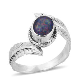 Royal Bali Collection Australian Boulder Opal (Ovl) Ring in Sterling Silver