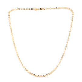 Designer Inspired - JCK 2017 Collection - 14K Gold Overlay Sterling Silver Circle Link Necklace (Size 24), Silver wt 4.40 Gms.