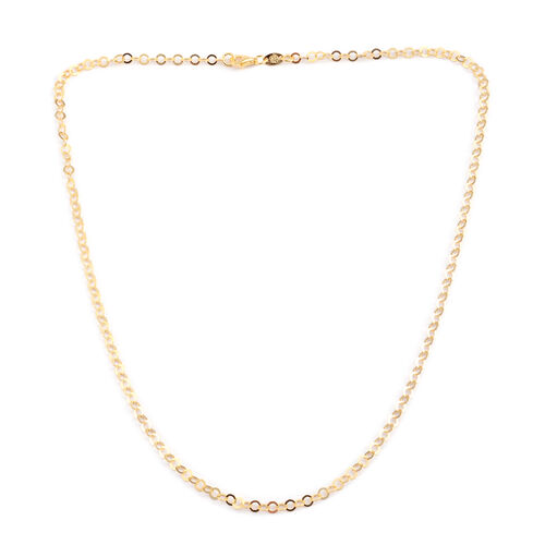 Designer Inspired - JCK 2017 Collection - 14K Gold Overlay Sterling Silver Circle Link Necklace (Size 24), Silver wt 4.40 Gms.
