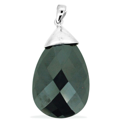 Hematite Solitaire Pendant in Sterling Silver 50.000 Ct.