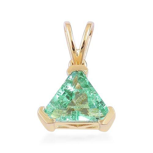ILIANA 18K Yellow Gold 1.05 Ct. AAA Boyaca Colombian Emerald Solitaire Pendant