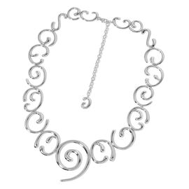 LucyQ Air Necklace (Size 24 with Extender) in Rhodium Plated Sterling Silver 100.00 Gms.