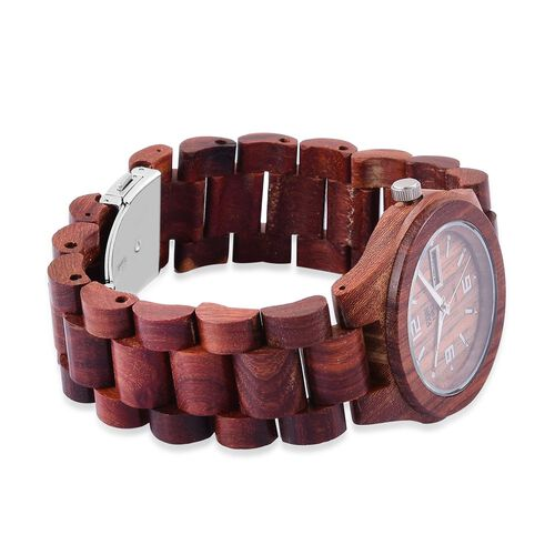 100% Natural Hand-Crafted Red Sandalwood and Maple wood -  EON 1962 Japanese Movement Watch