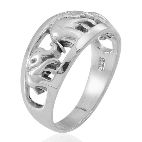 Thai Sterling Silver Elephant Ring, Silver wt 5.23 Gms.