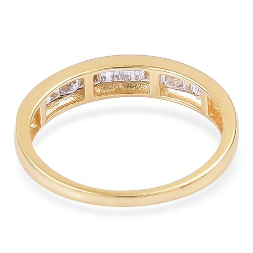 ILIANA 18K Yellow Gold IGI Certified Diamond (Princess Cut and Bgt) (SI/G-H) Half Eternity Ring 0.500 Ct.