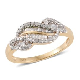Signature Collection - Limited Edition - Diamond (Bgt) (G-H) Ring in 14K Gold Overlay Sterling Silver 0.500 Ct.