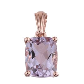 Rose De France Amethyst (Cush) Solitaire Pendant in Rose Gold Overlay Sterling Silver 3.000 Ct.