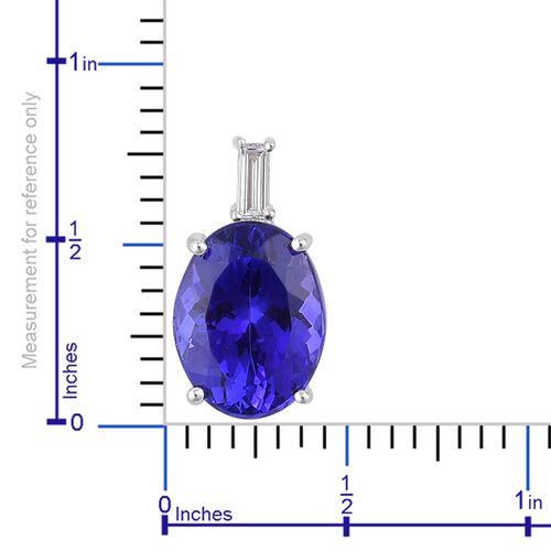 RHAPSODY 950 Platinum AAAA Tanzanite (Ovl 5.40 Ct), Diamond (VS/E-F) Pendant 5.650 Ct. Platinum Wt 2.45 Gms.