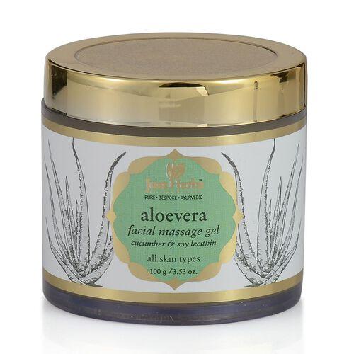 Just Herbs Aloevera Facial Massage Gel (100g) and Gotukola-Indian Ginseng Rejuvenating Beauty Elixir (Oily) (15ml)