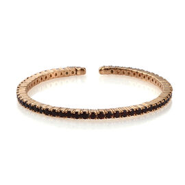 6.52 Ct Mozambique Garnet Bangle in Gold Plated Silver 16.68 gms 7 Inch