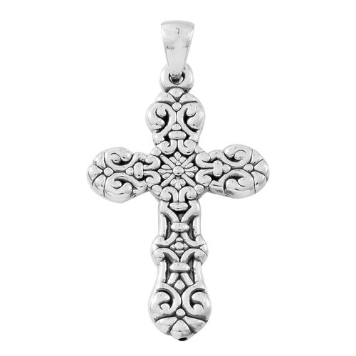 Vicenza Collection Sterling Silver Cross Pendant, Silver wt. 3.82 Gms.