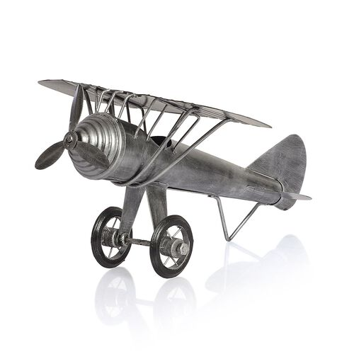 Handcrafted Vintage Style Silver Colour Aeroplane