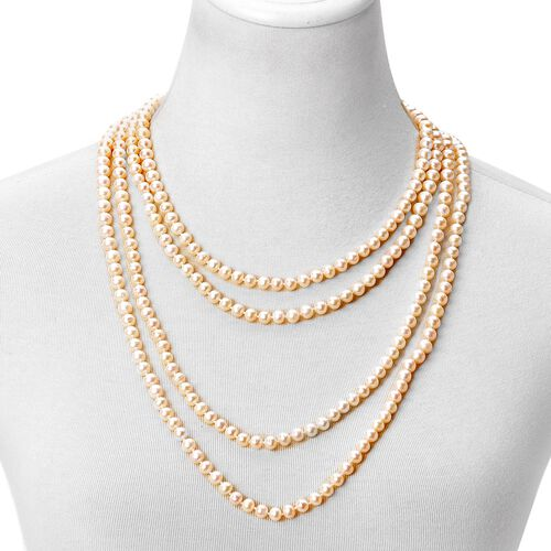 Fresh Water White Pearl Beads Necklace (Size 100) 911.500 Ct.