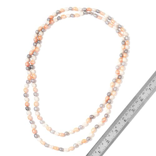 Fresh Water Multi Colour Pearl Necklace (Size 64)