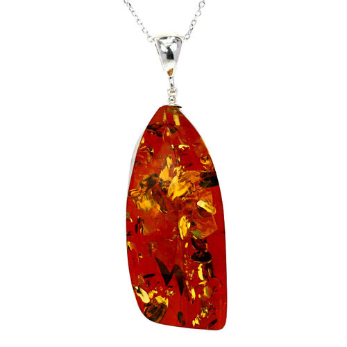 Baltic Amber Pendant in Sterling Silver 42.000 Ct.