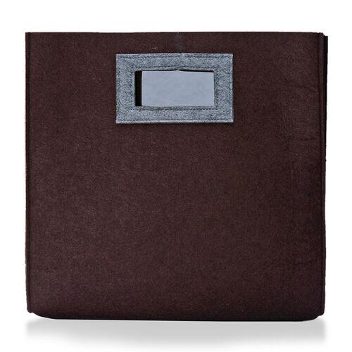 Chocolate and Grey Colour Felt Bag