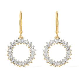 Designer Inspired- 9K Yellow Gold SGL Certified Diamond (Bgt) (I3/G-H) Circle of Life Lever Back Earrings 1.000 Ct