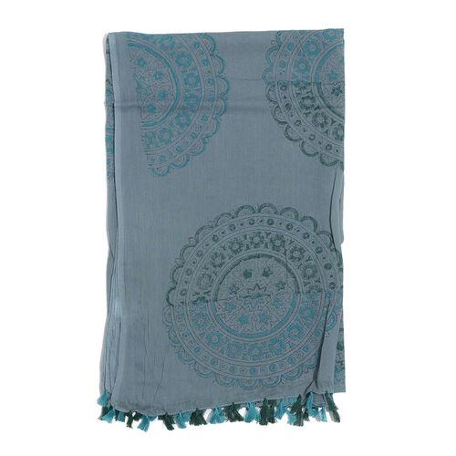 100% Cotton Dark Grey Colour Scarf (Size 180x100 Cm)