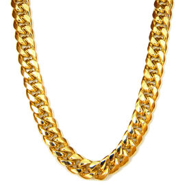 Close Out Deal - 9K Y Gold Curb Necklace (Size 22), Gold wt 28 Gms.