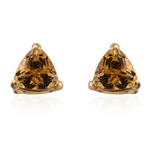 Marialite (Trl) Stud Earrings (with Push Back) in 14K Gold Overlay Sterling Silver 1.250 Ct.