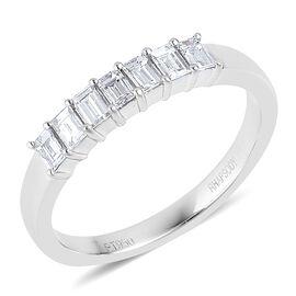 RHAPSODY 950 Platinum 0.50 Carat E-F VS IGI Certified Diamond Half Eternity Ring
