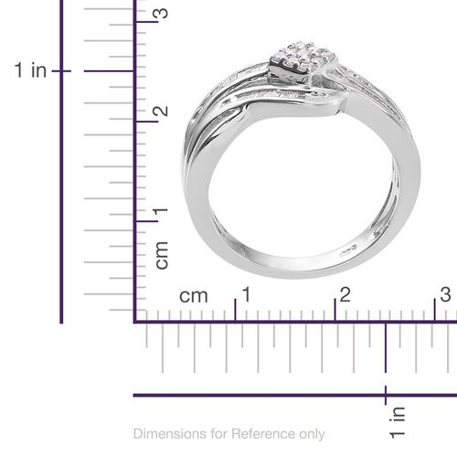 Diamond (Rnd) Ring in Platinum Overlay Sterling Silver 0.350 Ct.