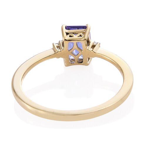 9K Yellow Gold AA Tanzanite (Oct), Diamond Ring 1.000 Ct.