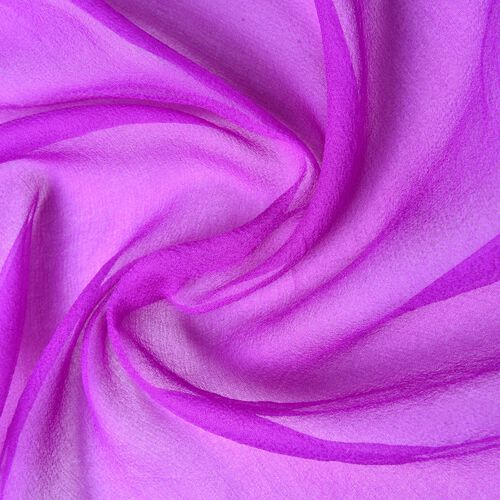 100% Mulberry Silk Purple Colour Scarf (Size 170x70Cm)
