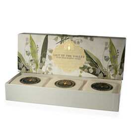 THE ENGLISH SOAP COMPANY- Classic Gift Boxed Soap 3 x 100g Lily of the Valley- Estimated delivery within 5-7 working days