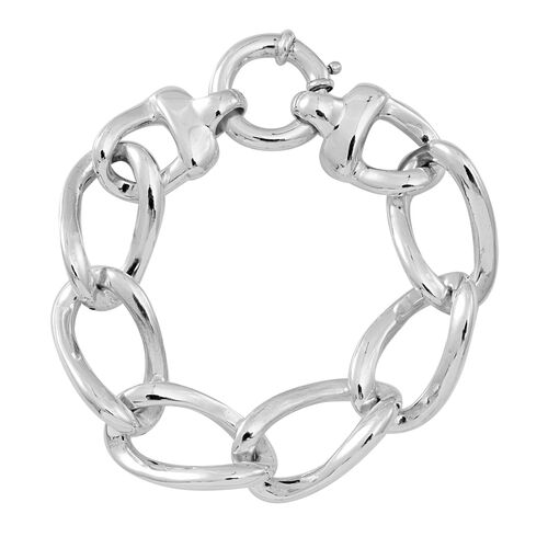 Statement Collection Sterling Silver Curb Bracelet (Size 8), Silver wt 21.26 Gms.