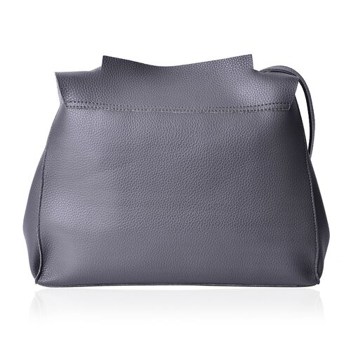 Marley Carryall Dark Grey Colour Shoulder Bag with Adjustable Strap (Size 37x31x14 Cm)