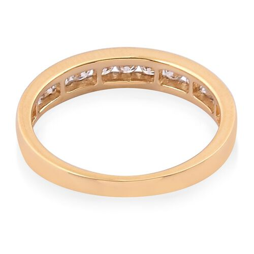 ILIANA 18K Y Gold IGI Certified Diamond (Rnd) (SI/G-H) Half Eternity Band Ring 0.500 Ct.