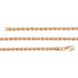 Surabaya Gold Collection - 9K Rose Gold Diamond Cut Rope Necklace (Size 30), Gold wt 6.00 Gms.
