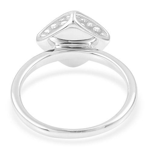 RACHEL GALLEY Rhodium Plated Sterling Silver Memento Diamond Ring, Silver wt 4.09 Gms.