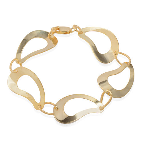 (Option 4) Close Out Deal 14K Gold Overlay Sterling Silver Bracelet (Size 8), Silver wt 9.30 Gms.