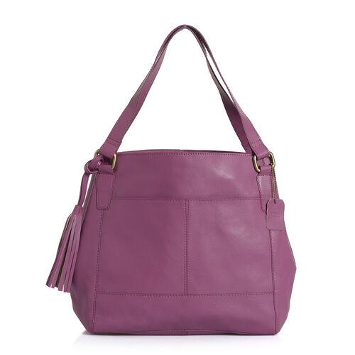 Pottery Genuine Leather Purple Colour Shoulder Bag