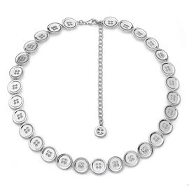 LucyQ Button Necklace (Size 16 with 4 inch Extender) in Sterling Silver 60.00 Gms.