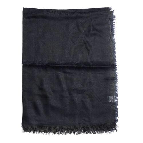 100% Modal Black Shawl (Size 180x70 Cm)