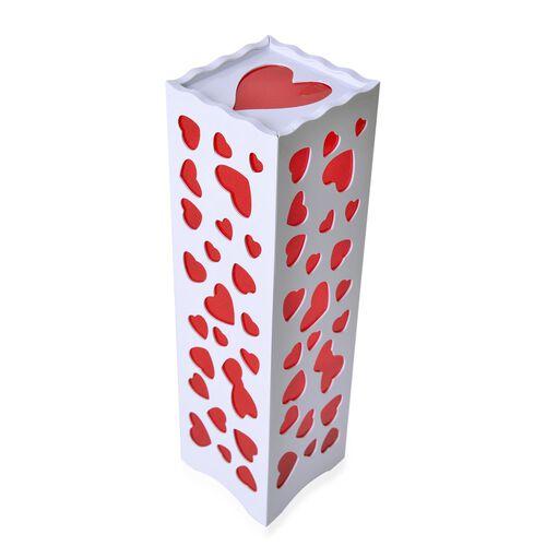Home Decor - Red Colour Heart Pattern White Colour LED Lamp (Size 33X9 Cm)