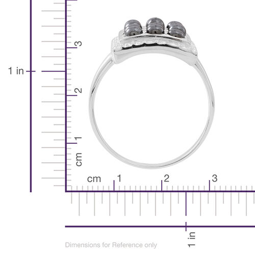 100% Natural Hematite (Rnd) Ring in Sterling Silver 3.000 Ct.