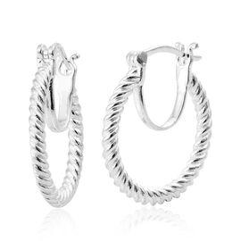 Sterling Silver Hoop Earrings (with Clasp Lock), Silver wt 6.27 Gms.