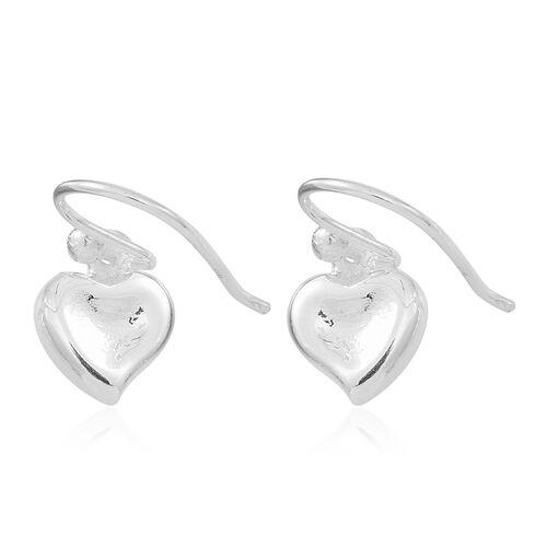 Super Bargain Deal-Sterling Silver Heart Hook Earrings