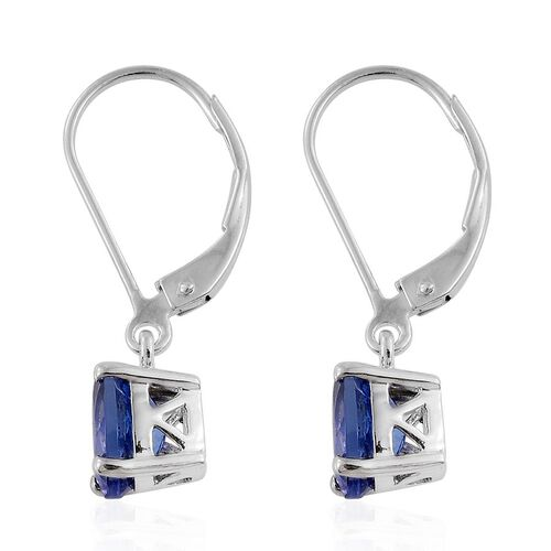 ILIANA 18K W Gold AAA Tanzanite (Ovl) Lever Back Earrings 2.000 Ct. Gold Wt 2.00 Gms.