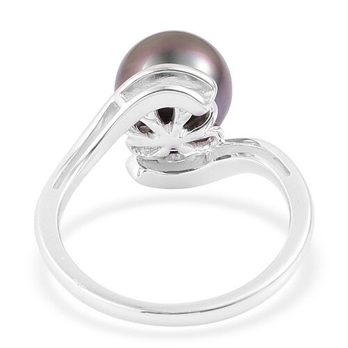 Limited Edition - RHAPSODY 950 Platinum AAAA Tahitian Pearl (Rnd 10-11mm) Solitaire Ring - Platinum Weight 6.00 Grams