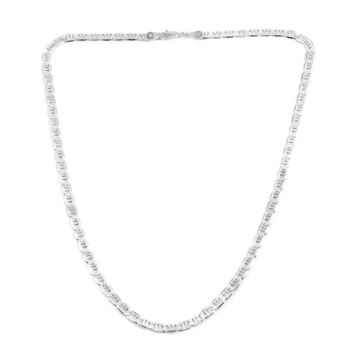 Close Out Deal Sterling Silver Necklace (Size 18), Silver wt 10.40 Gms.