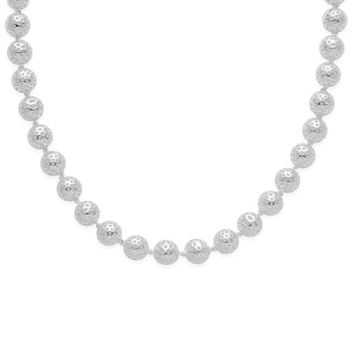 RACHEL GALLEY Sterling Silver Globe Necklace (Size 20), Silver wt 61.32 Gms.
