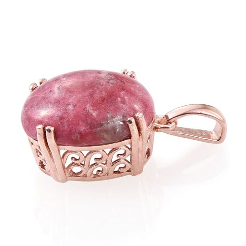 Norwegian Thulite (Ovl) Pendant in Rose Gold Overlay Sterling Silver 11.000 Ct.