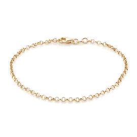 Royal Bali Collection 9K Yellow Gold Belcher Bracelet (Size 7.5) Gold Wt 1.20 Grams