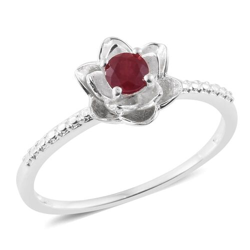 Designer Inspired- African Ruby (Rnd) TORA ROSE Ring in Sterling Silver