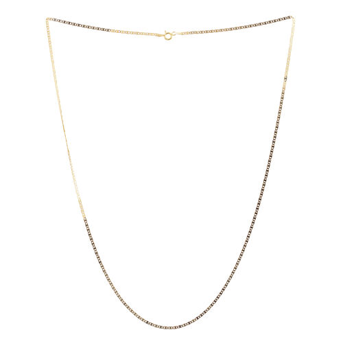 14K Gold Overlay Sterling Silver Valentino Chain (Size 24), Silver wt 3.00 Gms.